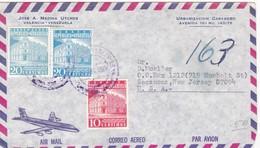 1968 COVER CIRCULEE AIRMAIL VENEZUELA TO USA - BLEUP - Venezuela