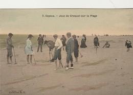 Cayeux ,( 80 Somme ) Jeux De Croquet Sur La Plage ,( Collection R.F. ,n° 7 , Colorisée ) - Críquet