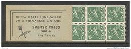 SUEDE 1945 - CARNET  YT C313a - Facit H73 -Neuf ** MNH - Premier Journal Suédois - 1904-50