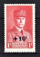 FRANCE 1941 - Y.T. N° 494 - NEUFS** - Francia