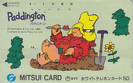 Télécarte Japon / 110-011 - BD Comics - OURS PADDINGTON / Confiture Bêche - TEDDY BEAR Japan Phonecard - BÄR - 765 - BD