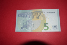 5 EURO M004 B2 PORTUGAL M004B2 - Serial Number MA2201672828 - UNC FDS NEUF - EURO