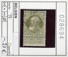 Belgien - Belgique -  Belgium - Belgie - Michel 72 - Oo Oblit. Used Gebruikt - 1905 Breiter Bart