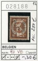 Belgien - Belgique -  Belgium - Belgie - Michel 90 VE - PREO - Oo Oblit. Used Gebruikt - 1912 Pellens