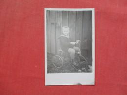 RPPC Boy In Uniform On 3 Wheel Bicycle   Ref 3424 - Cartoline