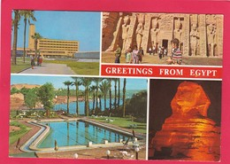 Modern Multi View Post Card Of Greetings From Egypt.B42. - Altri