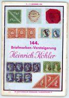144. Köhler Briefmarken Auktion 1954 - Seltener Auktionskatalog Mit Den Bildtafeln - Catalogi Van Veilinghuizen