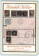 146. Köhler Briefmarken Auktion 1954 - Seltener Auktionskatalog Mit Den Bildtafeln - Catalogi Van Veilinghuizen