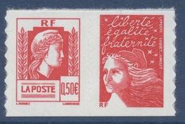 N° 43 Paire (3716+3085), Marianne D'Alger Valeur Faciale 0,50 € + Lettre Prioritaire - Adhésifs (autocollants)