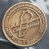 Lebanon Very Rare Medal - United Nations Independent Investigation Comission (Hariri Death) Lead By Bellamare In 2007-8 - Otros