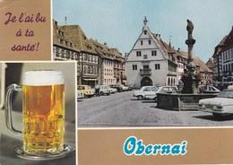 Obernai - Je L'ai Bu à Ta Santé - Vues Diverses - Voitures Renault 4L & 6 Peugeot 204 Mercedes - Obernai