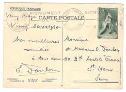 18738 - VIMY FRANCE - Postmark Collection (Covers)