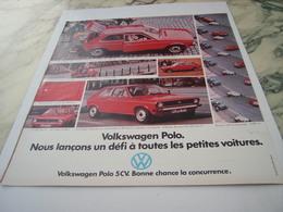 ANCIENNE  PUBLICITE VOITURE GOLF DE WOLKSWAGEN 1975 - Voitures
