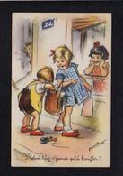 """Illustrateur (B) / Dessin Signé Germaine Bouret / """" Celui Là,y N'pense Qu'à Bouffer ! """" - Bouret, Germaine"""