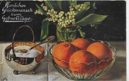 AK 0263  Herzlichen Glückwunsch Zum Geburtsrage - Früchte-Stilleben Um 1920-30 - Geburtstag