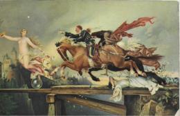 AK 0263  Henneberg , Rudolf - Die Jagd Nach Dem Glück / Künstlerkarte Um 1917 - Malerei & Gemälde