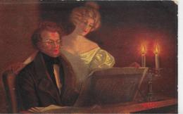 AK 0263  Ulreich , F. - Schubert Am Klavier / Künstlerkarte Um 1916 - Malerei & Gemälde