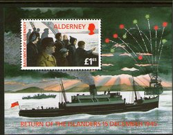 ALDERNEY, 1995 ISLANDERS RETURN ANNIVERSARY MINISHEET MNH - Alderney