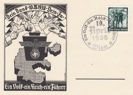 Sonderkarte 1938: Dein Dank, Dein Ja, Österreich, Wien - Allemagne