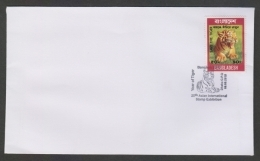 Bangladesh  2010  Felines  Tiger  Postmark  Special Cancellation Cover  # 08936   C&D  Inde Indien - Big Cats (cats Of Prey)