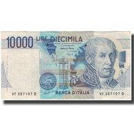 Billet, Italie, 10,000 Lire, KM:112c, TB+ - [ 2] 1946-… : République