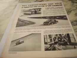ANCIENNE PUBLICITE ESSAIS LIBRE VOITURE   RENAULT 1954 - Voitures