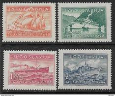 Yugoslavia Kingdom 1939 ☀ Ships ☀ Mint Never Hinged - Unused Stamps