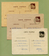 ORAN  (1941) : ENTIERS POSTAUX  (3 Couleurs) - Lettres & Documents