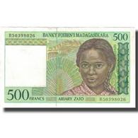 Billet, Madagascar, 500 Francs = 100 Ariary, KM:75b, TTB - Madagascar