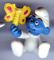 Figurine Vintage Bébé SCHTROUMPF  © 1984 PEYO SCHLEICH - Schtroumpfs