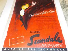 ANCIENNE PUBLICITE ETRE A L AISE SCANDALE  1956 - Habits & Linge D'époque