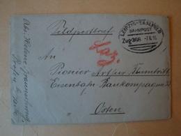 Feldpostbrief 1. WK., Mit Bahnpost Zug 366 Gelaufen 7.6.16, Eisenbahn Baukompanie 33 - Briefe U. Dokumente