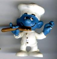 Figurine Vintage SCHTROUMPF Cuisinier © PEYO SCHLEICH Germany - Schtroumpfs