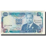 Billet, Kenya, 20 Shillings, 1989-07-01, KM:25b, TB+ - Kenia