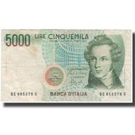 Billet, Italie, 5000 Lire, KM:111b, TB - [ 2] 1946-… : République
