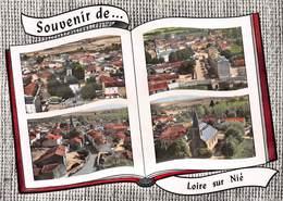Souvenir De ...LOIRE-sur-NIE - Vue Générale - Centre - Eglise - Livre Ouvert - Philatélie Cachet Hexagonal En Pointillés - Other Municipalities