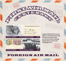 Antigua And Barbuda 2018  FIRST AIRMAIL CENTENARY SHEETLET  I201901 - Antigua And Barbuda (1981-...)