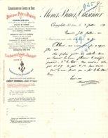 MENET-BRUET & CUISINIER  Bois Pour Pates A Papier  CHAMPLITTE  70         1896 - Francia