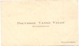 Visitekaartje - Carte Visite - Burgemeester Polydoor Van De Velde - Paulatem - Cartes De Visite
