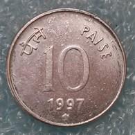 """India 10 Paise, 1997 Mintmark """"*"""" - Hyderabad -2225 - Inde"""