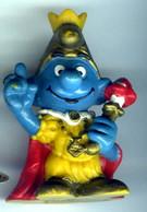 Figurine Vintage SCHTROUMPFISSIME ROI © PEYO 1978 SCHLEICH W.Germany - Schtroumpfs