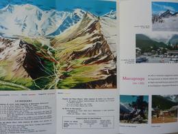 """Pieghevole Turistico """"MACUGNAGA - MONTE ROSA  Azienda Autonoma Di Soggiorno"""" 1977 - Dépliants Turistici"""