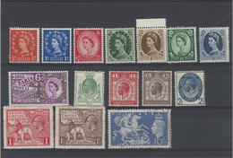 Gran Bretagna ,14 Pezzi Nuovi Con Linguella + 1 Usato ,splendidi - 1902-1951 (Re)