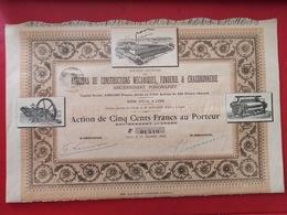 S. A. DES ATELIERS DE CONSTRUCTIONS MECANIQUES, FONDERIES & CHAUDRONNERIE 1898 - Industrie
