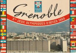 Isère : GRENOBLE : Xé Jeux Olympiques  D'hiver 1968 - Centre De Presse - ( C.p.s.m.  - Grand Format ) - Grenoble
