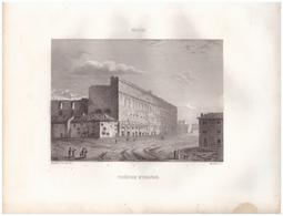 1851 - Gravure Sur Acier - Orange (Vaucluse) - Le Théâtre - FRANCO DE PORT - Estampes & Gravures