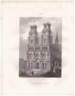 1851 - Gravure Sur Acier - Orléans (Loiret) - La Cathédrale - FRANCO DE PORT - Estampes & Gravures