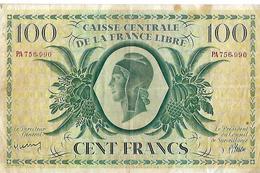 Billet Ordre 1941 / 100 Francs / Caisse Centrale De La France Libre / N° PA 756.990 - N. 100 Francs
