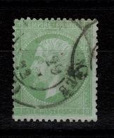 Laure - YV 35 Oblitere Pas Aminci, Cachet De 1872, TTB Cote 230 Euros - 1863-1870 Napoléon III Lauré