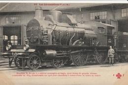 LOCOMOTIVE  ( PLM ) Machine  N° B.146  à 2 Essieux Accouplés Et Bogie ...... - Trains